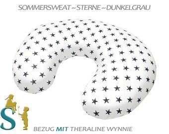 Nursing Pillow ~ Sommersweat-Star-dark blue ~ Theraline Wynnie