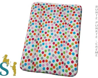 Cover for wrapping pad 50x70-Colorful Dot-Cream