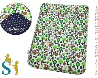Cover for wrapping pad 50 x 70- Squirrel-Green