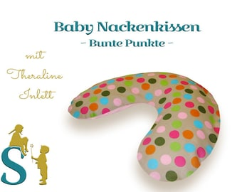 Sleeping and neck Pillow ~ colorful Dots ~