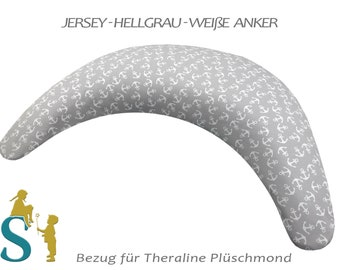 Reference for plush moon ~ Jersey light gray-white anchor ~