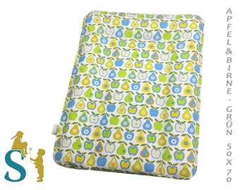 Cover for wrapping pad 50 x 70 apple & pear green