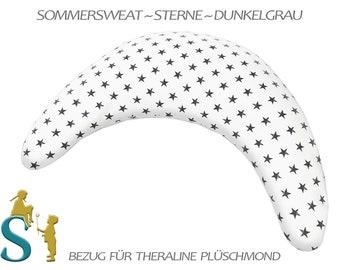 Upholstery for Plush Moon ~ Sommersweat ~ Stars-Dark grey