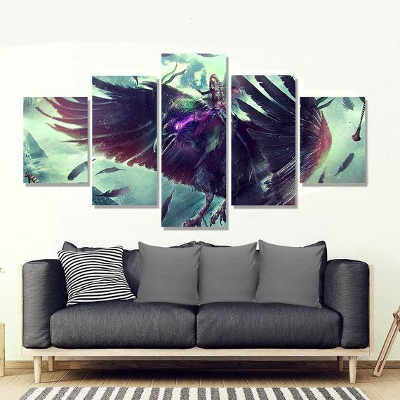 World of Warcraft Poster Warcraft canvas art wow Bird wall | Etsy