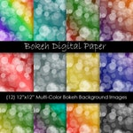 Bokeh Digital Papers - Colorful Bokeh Scrapbook Paper - Ombre Bokeh Backgrounds - Commercial Use - 300 dpi JPG - Instant Digital Download
