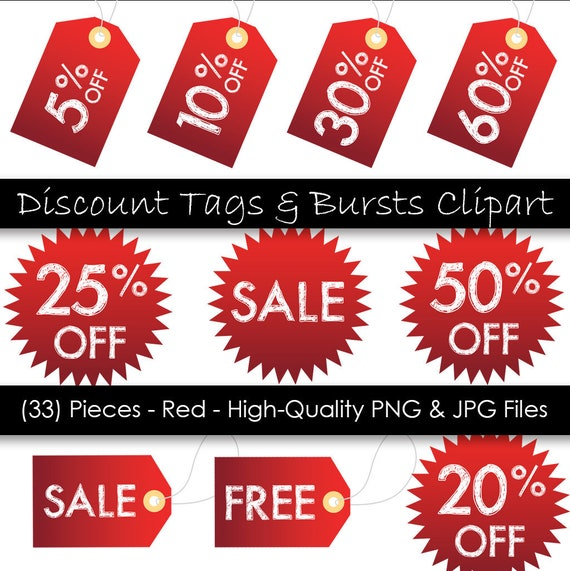graphic about Printable Hang Tags identified as Selling price Tag Clipart - Printable Dangle Tags - Pink Sale Tags - 33 Elements - Industrial Seek the services of - 300 dpi PNG JPG data files - Fast Electronic Down load