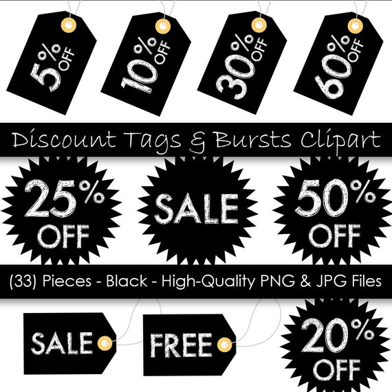graphic relating to Printable Hang Tags referred to as Rate Tag Clipart - Printable Hold Tags - Black Sale Tags - 33 Areas - Business Employ - 300 dpi PNG JPG data files - Immediate Electronic Down load