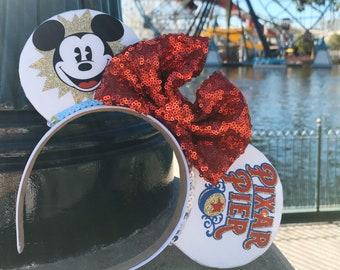 Pixar Pier / Mickey Fun Wheel Minnie Inspired Disney Ears