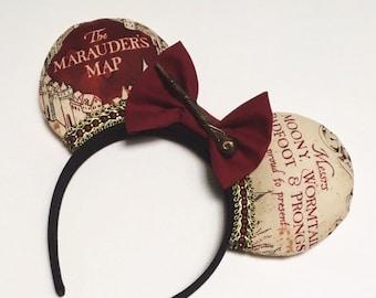 Wizard World / Map / Inspired Mickey / Disney Ears