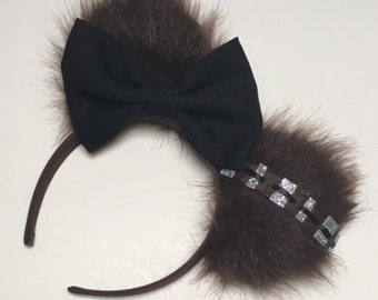 bee1eec5bfe Chewbacca   Star Wars Inspired Ears   Chewbacca Disney Ears   Chewbacca  Mickey Ears