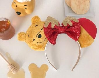 Winnie the Pooh Inspired Disney / Mickey Ears / Honey Drip Hundred Acre Wood