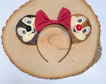 Chip and Dale Inspired Disney Ears / Chip n Dale / Rescue Rangers / Animal Kingdom
