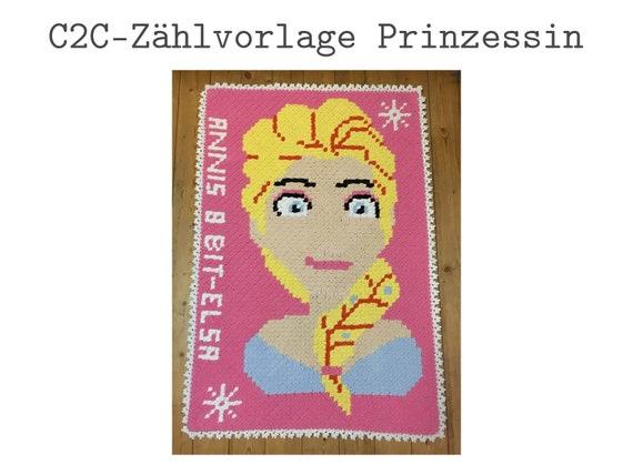 Prinzessin Häkel Zählvorlage Für C2c Häkeln Etsy