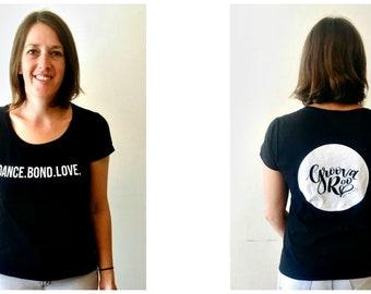 Women's Scoop Neck Black GroovaRoo T-Shirt