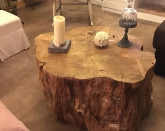 Table tronc d 39 arbre etsy - Table basse tronc d arbre ...