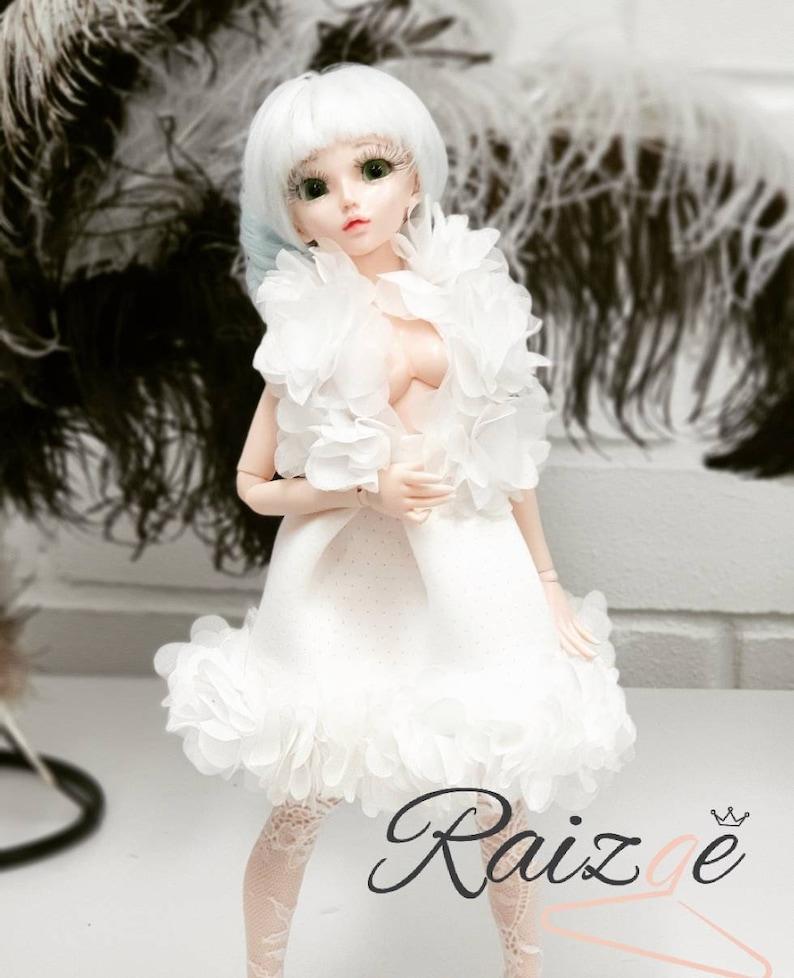 Puppe 4minifee Schönheitskleid Msd Weißes Outfit Für Abends Bjd XOPuTZki