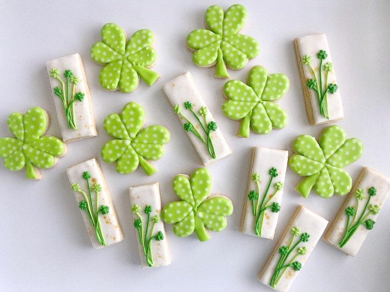 Vegan St. Patrick's Day sugar cookies image 0