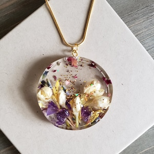 polymer clay resin floral pendant necklace boho,kumihimo necklace polymer flower jewelry,clay jewelry pink flower pendant