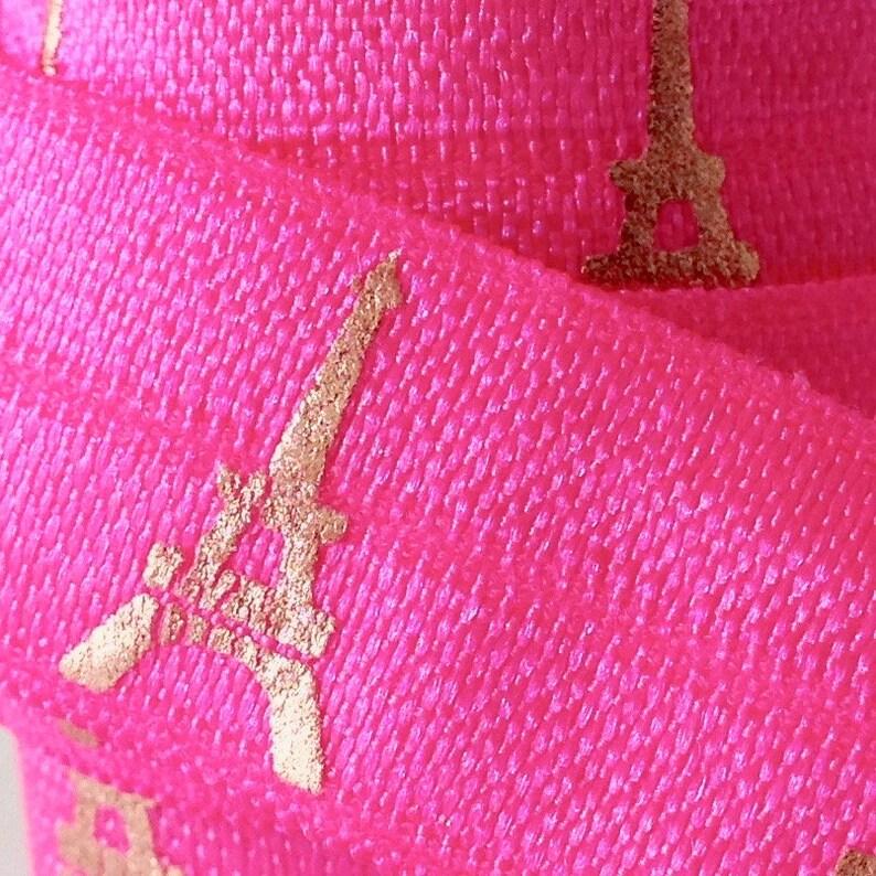 1m elastic band Falzgum Fable Ribbon Paris neon pink