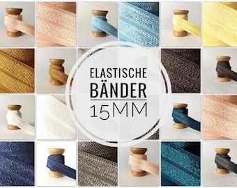 15mm x 1meter/5meter DIY rubber band Elastic hair rubbers uni gauge ribbon folding rubber solid color ribbon bracelet