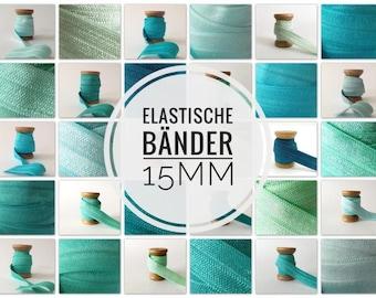 15 mm x 1 meter rubber band sew plot cover elastic folding rubber bevel tape JGA hair ties Hairties elastic ribbon blush natural tones