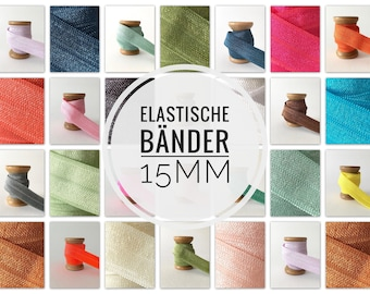 15 mm x 1meter DIY Rubber Band Elastic Hair Rubbers uni Edging Tape Folding Rubber Bracelet Plotting Hairties Elastic Band Monochrome Rubber Cord