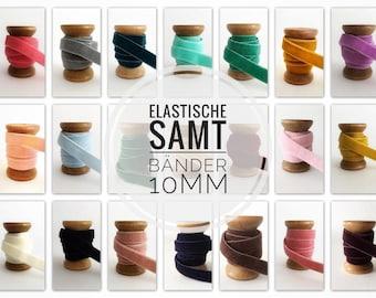10mm x 1 meter velvet ribbon elastic rubber band elastic band folding band slanted ribbon JGA hair ties hairties