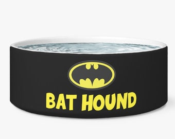 65601b3edd3f PERSONALIZED Bat Hound Food Bowl, Ace the bat hound dog bowl, Batman bowl,  Batman Pet Bowl, Comic gifts, Gifts for dogs, Gifts for pets