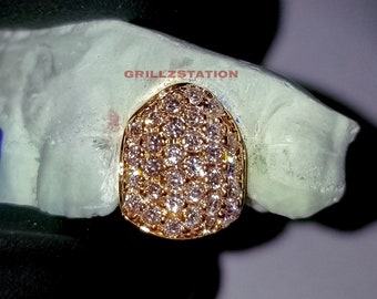 Custom Real DIAMOND Grillz- Fully Ice Out single tooth by grillzstation . dcd448c8f
