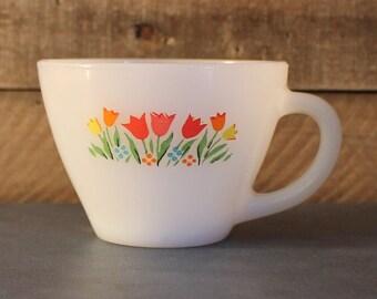Vintage Fire King Tulip Mug