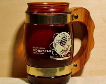 New York World's Fair 1964-1965 Amber Mug