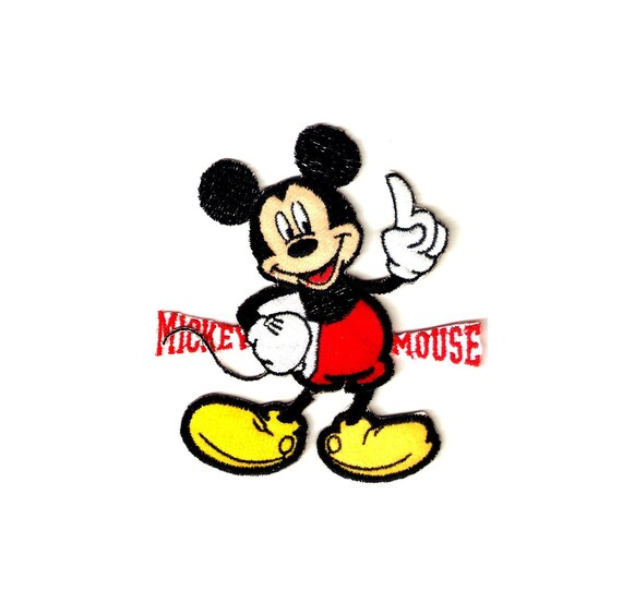 embroidered Iron on Patch Mickey Mouse Hero A Little Guy with A Great heart