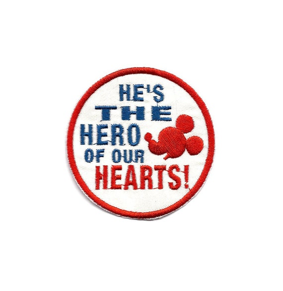 Hero A Little Guy with A Great heart Mickey Mouse embroidered Iron on Patch