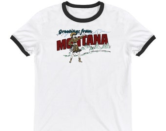 Greetings from Montana Ringer Tee