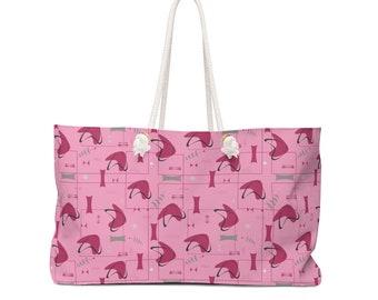 Galactic Strawberry Weekender Bag