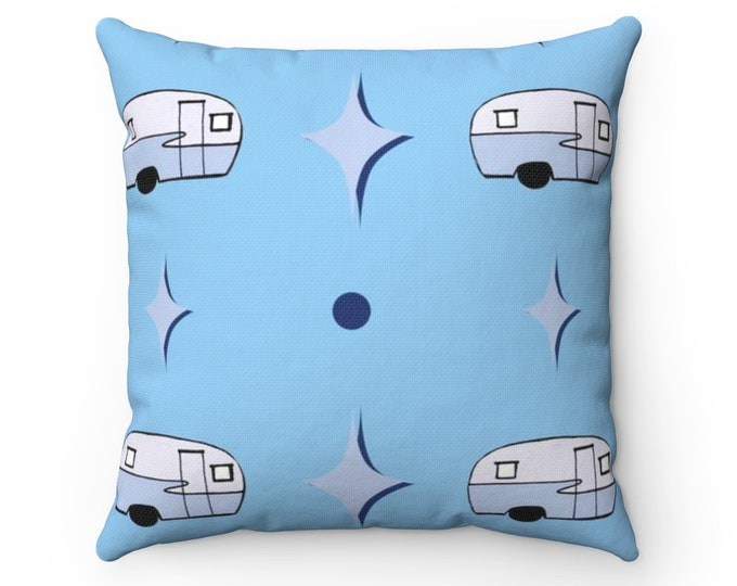 Feelin Glamperous In Blueberry Spun Polyester Square Pillow