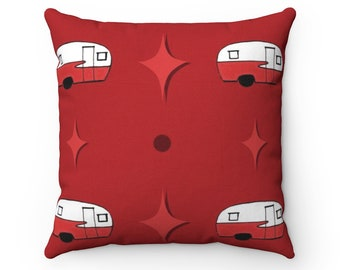 Feelin Glamperous In Cranberry Spun Polyester Square Pillow
