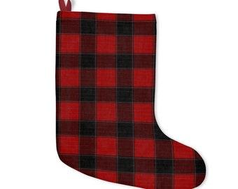 Traditional Penny Tartan Christmas Stockings