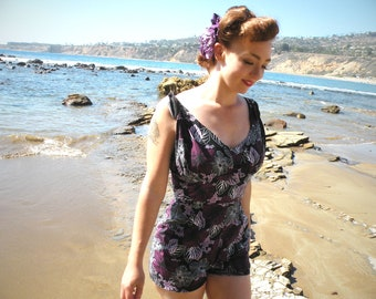 Retro Beach Fun Playsuit On SALE CLEARANCE
