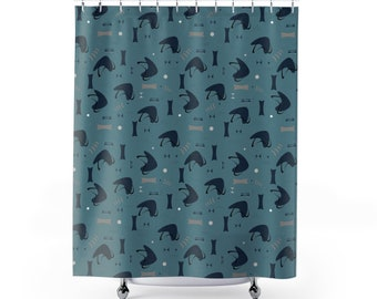 Blueberry Atomic Shower Curtains