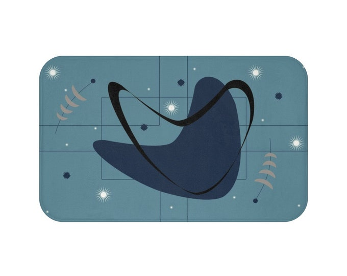 Nebulous Blueberry Atomic Bath Mat