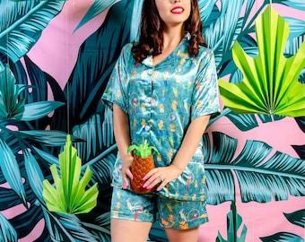 Enchanted Paradise Tiki Bird Pajamas Plus Sizes Available