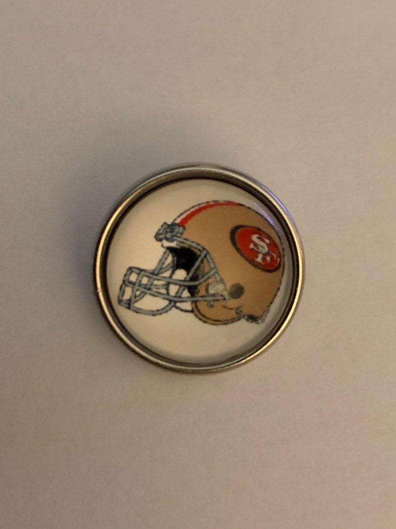 Snap Jewelry 18-20mm SF 49ers Football Helmet Snap