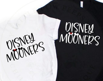 Disney Mooners Shirt - Bride and Groom Shirt - Disney Couples Shirt - Honeymoon Shirts - Newlywed Shirts - Just Married Shirt