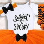 Sweet and Spooky Outfit - Baby Girls Halloween - 1st Halloween Outfit - Newborn Halloween - Halloween Tutu - My 1st Halloween