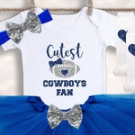 Dallas Cowboys Baby - Baby Girl Football Outfit - Tutus and Touchdowns - Football Season Shirt - Coming Home Outfit - Toddler Football