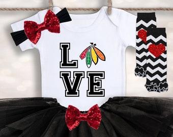 big sale f6e6a db87a Blackhawks baby | Etsy