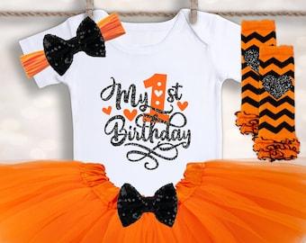 Halloween Birthday Onesie® - My First Halloween - Baby Girls Tutu Outfit - Baby Halloween Costume - Cake Smash Outfit - First Birthday Shirt