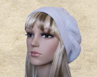 Boho knit beret hat 428fcb1b1f7