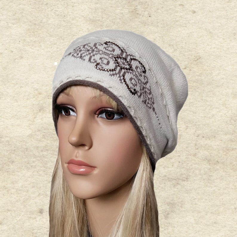 704eb722bf6 Knit fall beanie hat Beanie knit women Slouchy knitted hats
